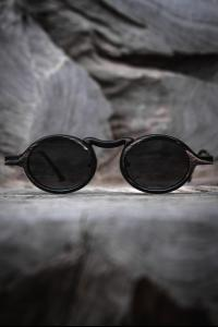 Rigards Natural Black & White Buffalo Horn Sunglasses