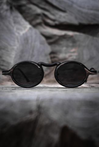 Rigards Natural Black & White Buffalo Horn Sunglasses