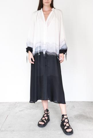 Isabel Benenato Oversized degraded silk dress