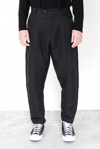 Isabel Benenato Comfort Linen Pant with Suspender