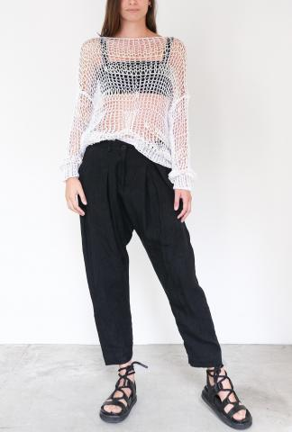 Isabel Benenato Comfort Linen Pants