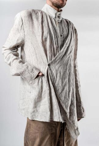 Chiahung Su Vintage Fabric Draped Kimono Shirt