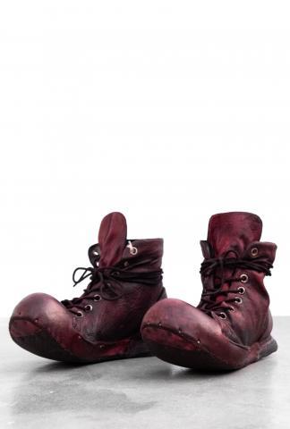 NIHOMANO Over-dyed Buoyantly Transformer Boulder Wrinkled Full Grain Kangaroo Leather Sneakers