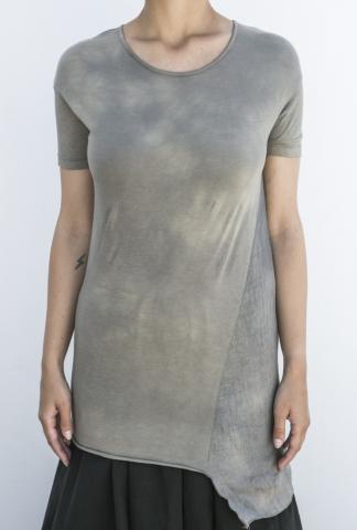 Andrea Ya'aqov Asymmetric Two-fabric T-shirt