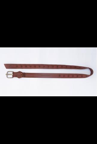 M.A+ d buckle wide belt with cross cut holes