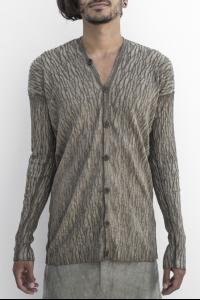 Masnada Two-colour Knitted  V-neck Buttoned Cardigan