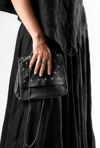 M.A+ cross studded  xs accordion handbag