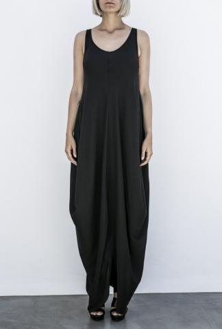 POEME BOHEMIAN draped dress central seam