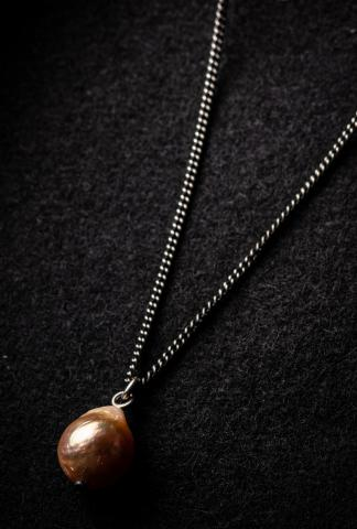 Ann Demeulemeester Single pearl necklace