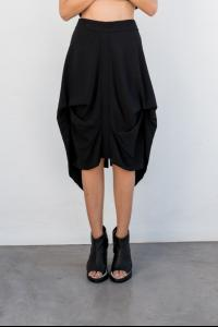 Moohong rear flag draped skirt