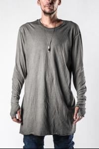 Boris Bidjan Saberi LS1RF Elongated Two Fabric Long Sleeve T-shirt