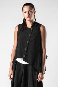 Lurdes Bergada Multi-wear Hooded Waistcoat