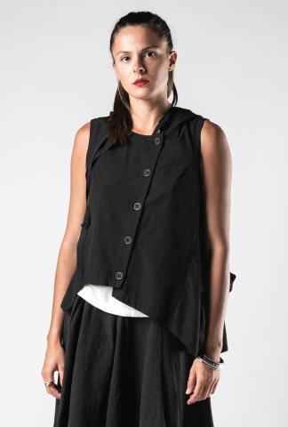 Lurdes Bergada Multi-wear Hooded Waistcoat