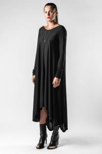 Isabel Benenato Asymmetric Jersey Long Sleeve Dress