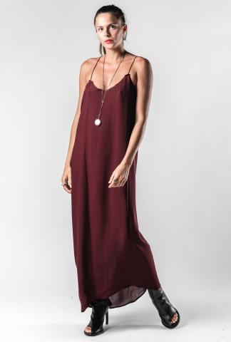 Isabel Benenato Asymmetric String Back Silk Dress