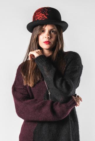 Isabel Benenato Embroidered Felt Hat