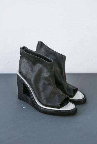 Nico Uytterhaegen Architectural Wedge Open Toe Back-zip Heels