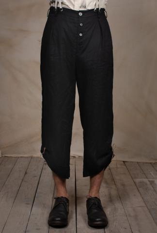 Aleksandr Manamis Painter's Black Summer Pant