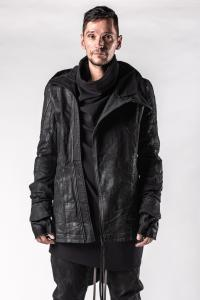 A.F. Artefact Coated Denim Removable Glove High-neck Jacket