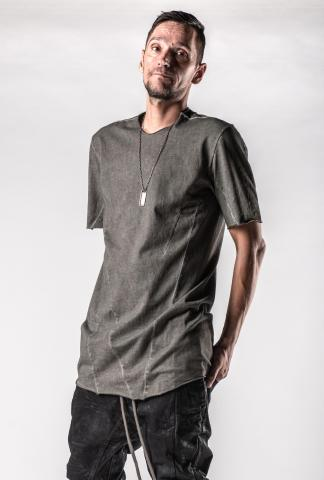 A.F. Artefact Cold Dyed Raw Hem Short Sleeve T-shirt