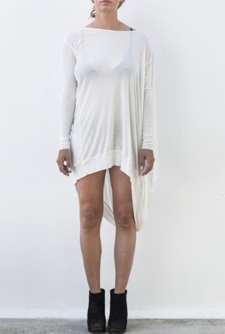 Masnada Asymmetric Draped Long Sleeve Dress