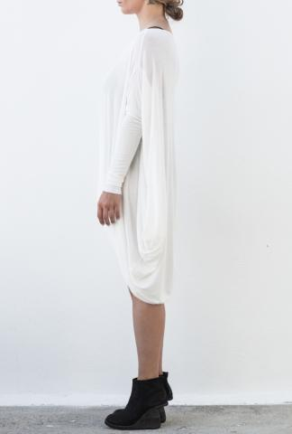 MASNADA Lds jersey dress white