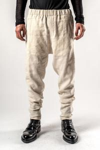 Ann Demeulemeester Elasticated Waistband Herringbone Weave Tapered Trousers