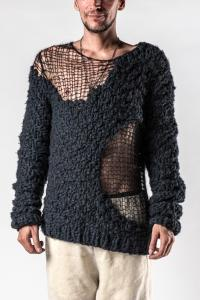 Ann Demeulemeester Uneven Hand Knitted Sweater