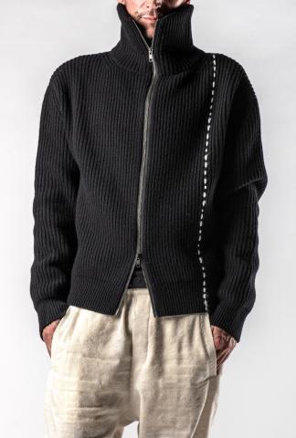Ann Demeulemeester Knitted High-neck Jacket