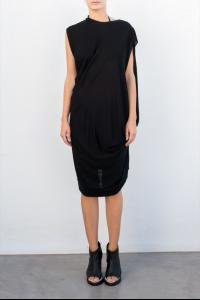 Moohong pleat draped jersey top
