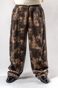 Ann Demeulemeester Bleached Velvet Loose Trousers