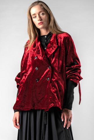 Ann Demeulemeester Belted Loose Caban Jacket