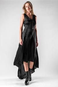 Ann Demeulemeester Darted Asymmetric Silk Blend Dress