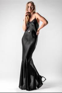 Ann Demeulemeester Darted Silk Blend Slim Dress