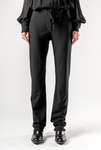 Ann Demeulemeester Jersey Bootcut Trousers