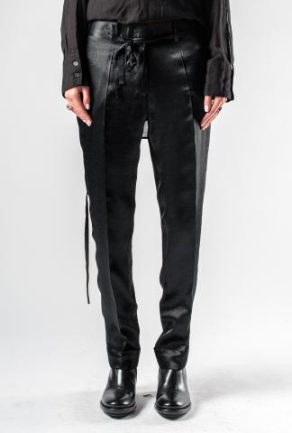 Ann Demeulemeester Tapered Fold-over Trousers with Belt