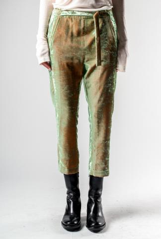 Ann Demeulemeester Iridescent Velvet Cropped Trousers