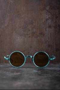 Rigards RG0UW3 Uma Wang Collaboration Jade Copper Sunglasses