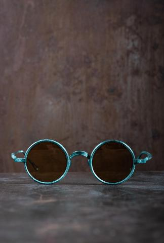 Rigards RG0UW3 Uma Wang Collaboration Jade Copper Sunglasses