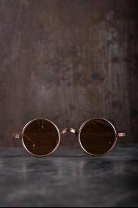 Rigards RG0UW3 Uma Wang Collaboration Red Copper Sunglasses