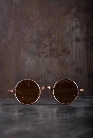 Rigards RG0UW3 Uma Wang Collaboration Red Copper Sunglasses