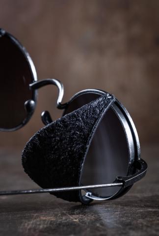 Rigards RG0UW1 Uma Wang Vintage Black Sunglasses
