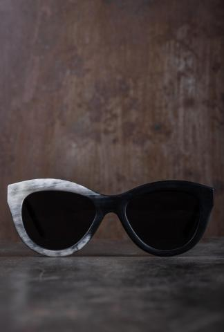 Rigards RG0067 Buffalo Horn Matte Sunglasses