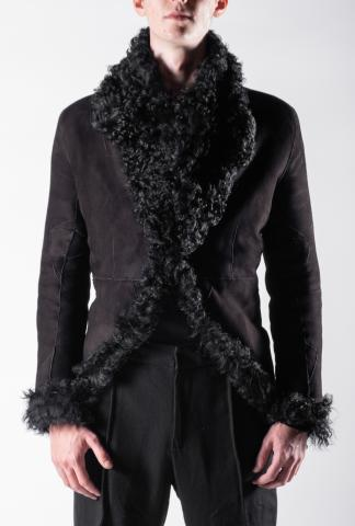 Ann Demeulemeester Reversible Shearling Leather Jacket