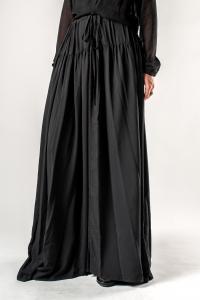 Ann Demeulemeester Long Silk Semi Sheer Skirt