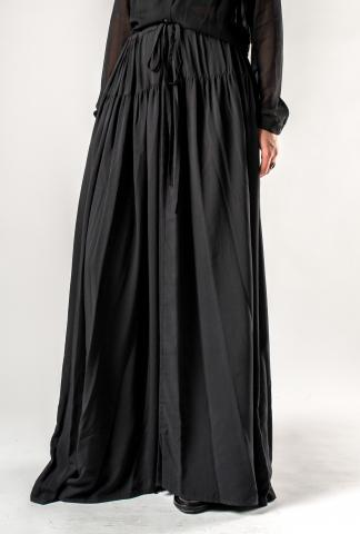 Ann Demeulemeester Long Silk Semi Sheer Skirt