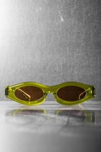 Kuboraum Y5 Lime Green Sunglasses