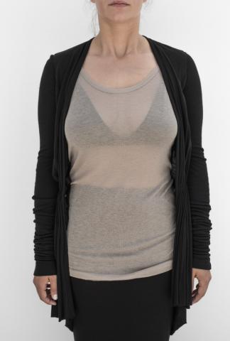 Rick Owens Lillies Woven jacket - one hook jersey cardigan