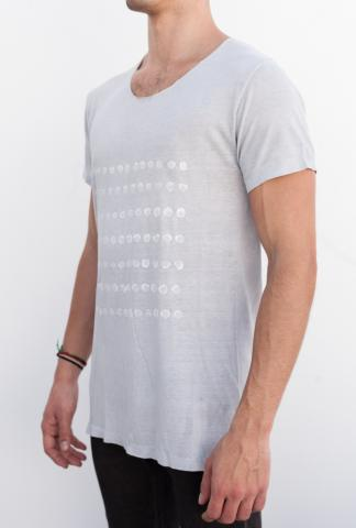 AMY GLENN T-shirt H TEXT_GR Lt.GREY