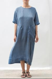 UMA WANG UW5064 Y13E5.033 BLUE DRESS